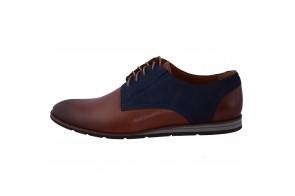 Pantofi  barbati, marca Conhpol, cod PBCD-1559S-04-D8-40, culoare coniac/bleumarin