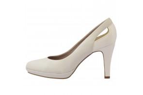 Pantofi de mireasa, din piele naturala, marca s.Oliver, cod 22411-13-15, culoare alb