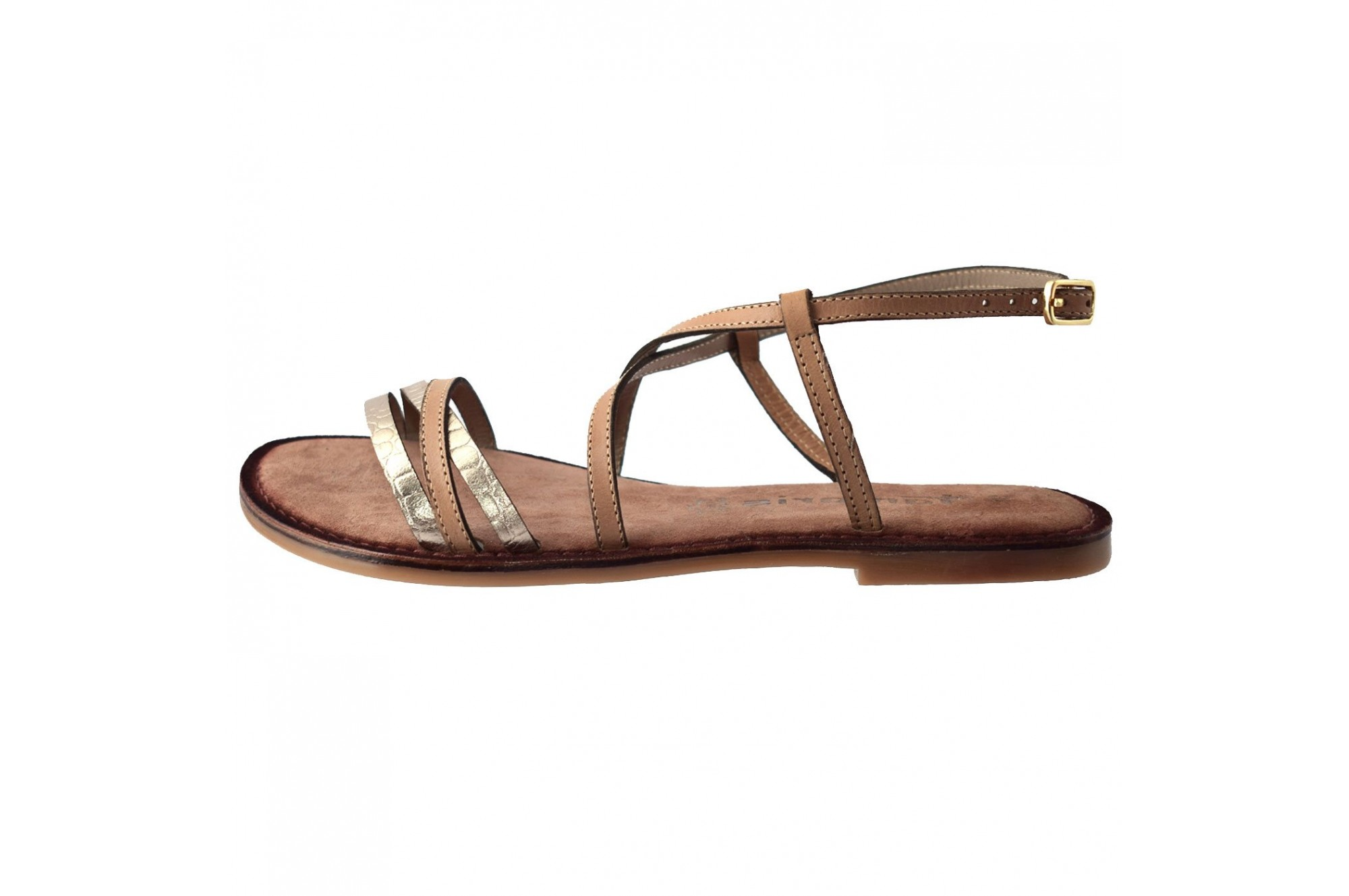 Sandale dama, din piele naturala, marca Tamaris, 28114 02 10, bej