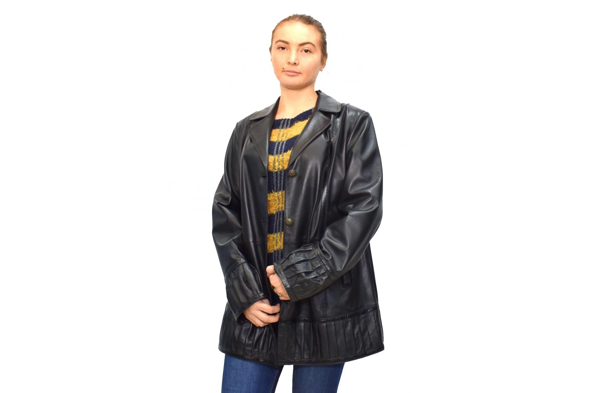 potrivire clasică oferta specifica vânzare ieftină din Marea Britanie haina-dama-din-piele-naturala-marca-kurban-019