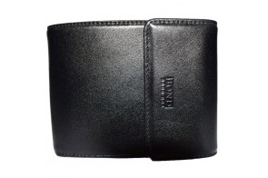 Portofel barbati, din piele naturala, marca Bond, cod 543-01-19, culoare negru
