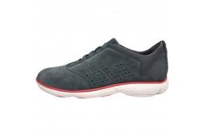 Pantofi sport barbati, din piele naturala, marca Geox, cod U72D7A-14-06, culoare gri