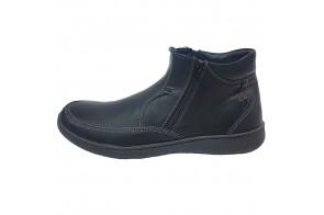 Ghete barbati, din piele naturala, marca Dogati, cod 4371159-01-75, culoare negru