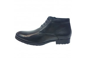 Ghete barbati, din piele naturala, marca Saccio, cod H129999-R04A-01-17, culoare negru