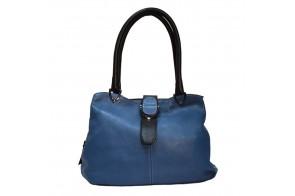 Poseta dama, din piele naturala, marca Desisan, cod 7108A-07-26, culoare albastru