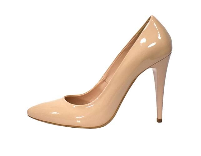 Pantofi de mireasa, din piele naturala, marca Botta, cod 632-B6-M2-05, culoare nude