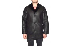 Cojoc barbati, din blana naturala, marca Kurban, cod 2-01-95, culoare negru