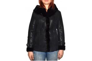Cojoc dama, din blana naturala, marca Kurban, cod 2011-01-95, culoare negru