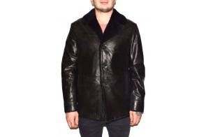 Cojoc barbati, din blana naturala, marca Kurban, cod A-71-01-95, culoare negru