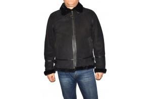Cojoc barbati, din blana naturala, marca Kurban, cod Pilot 01-01-95, culoare negru