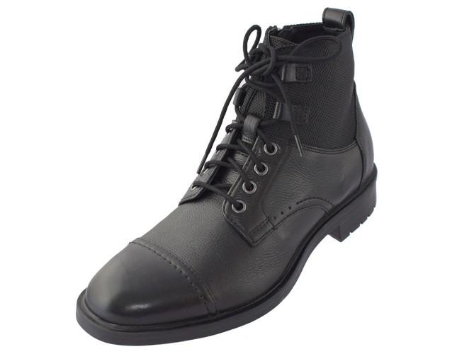 Ghete barbati, din piele naturala, marca Geox, U843PE-C9999-01-06, negru