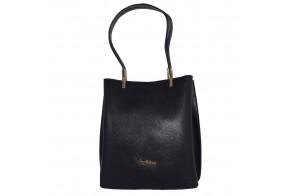Geanta dama, din piele naturala, marca Tony Bellucci, 0-266-01-64, negru