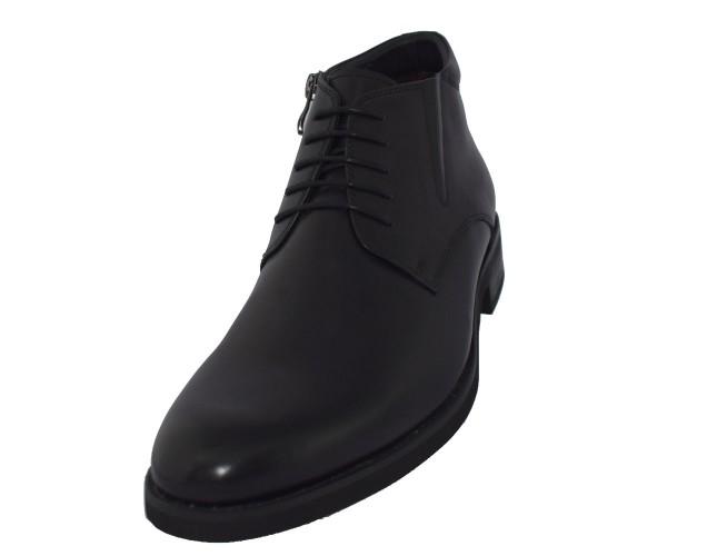 Ghete barbati, din piele naturala, marca Eldemas, cod 9811-5A-01-24, culoare negru