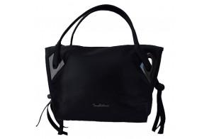 Geanta dama, din piele naturala, marca Bond, 0303-01-19-19, negru