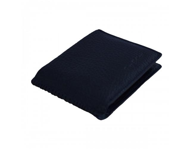 Portofel piele barbati, din piele naturala, marca Bond, T701-42-19-19, bleumarin
