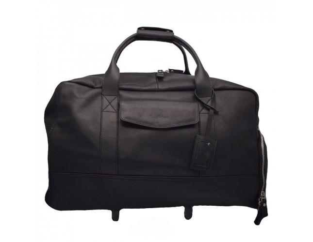 Geanta voiaj, din piele naturala, marca Tony Bellucci, T-5100-900-01-64, negru