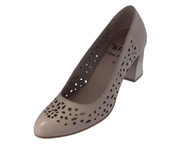 Pantofi dama, din piele naturala, Jana, 8-22491-24-C5-O-09, roze