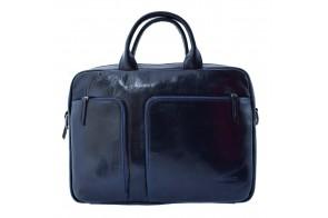 Geanta barbati, din piele naturala, marca Bond, 1163-49-42-19, bleumarin