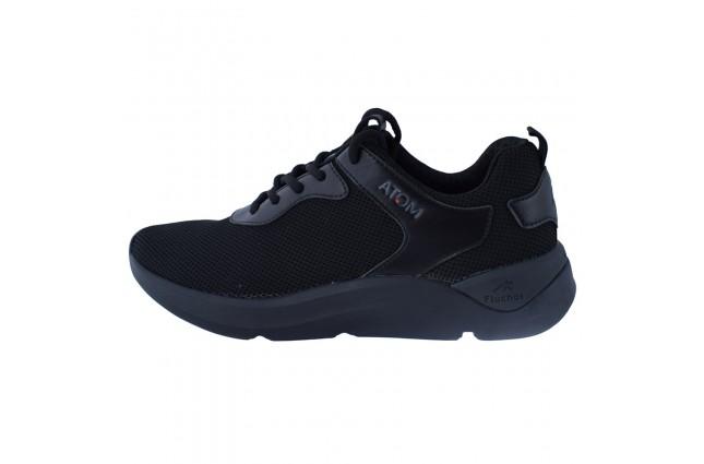 Adidasi barbati, din textil, Fluchos, F1251-01-21-146, negru